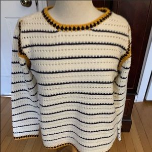 Anthropologie striped sweater Medium